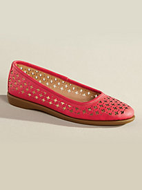 Cutwork Ballerina Flats by Valley Lane�