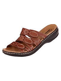 Leisa Cacti Style. Tri-Strap Slides by Clarks�