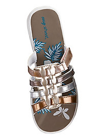 La Belle Style Sporty Slides by Easy Street®