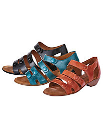 Gladiator Leather Sandals by Comfortiva�