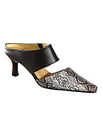 Faux Snake Mules by Classique®