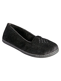 Velour Close Back Slippers