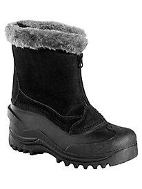 Tahoe Style Zip-Front Suede Winter Boots