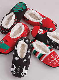 Festive Knit Slippers