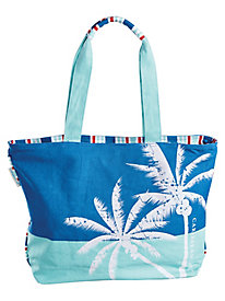 Tropical Icons Palm Tote By Sun 'N' Sand®