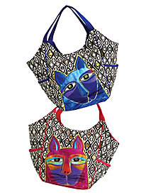 Whiskered Cats Scooped Tote By Laurel Birch®