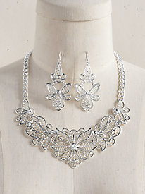 Lacey Floral Necklace Set