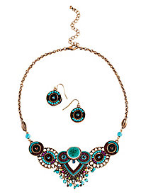 Enameled Necklace Set