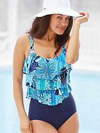 Shell A Go-Go Triple Tier Swimsuit By Penbrooke®