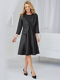 Woven Crepe Jacket Dress