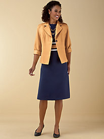 Colorblocked Jacket Dress