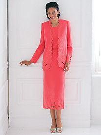 Studio B Elegant Cutwork Three-Piece Suit