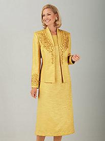 Soutache Shantung Jacket Dress