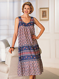 La Cera Border-Print Sundress
