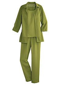 Lace-Jacket Pant Set