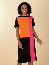 Vicki Wayne?; Colorblock Dress