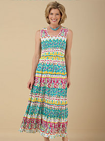 Colorful Printed Knit Sundress