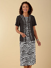 Zebra Print Jacket Dress by Vicki Wayne®
