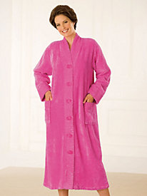 Intimate Appeal® Button-Front Chenille Short Robe