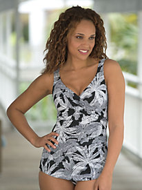 Crossover Sarong Swimsuit by Penbrooke®