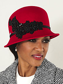 Anita Beaded Cloche by Betmar?;