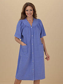 Vicki Wayne® Snap-Front Short Terry Robe