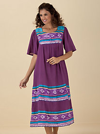 Crinkle-Cotton Housedress