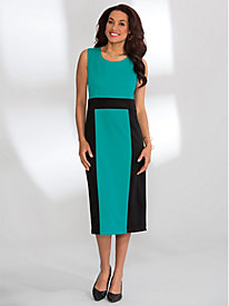 Colorblock Jacket Dress