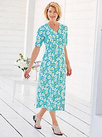 Button-Front Knit Dress