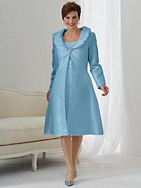 Ruffled Collar Jacket Dress