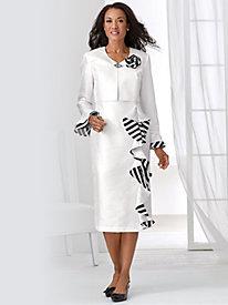 Ruffle Accented Jacket Dress