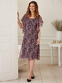 Print Chiffon Jacket Dress