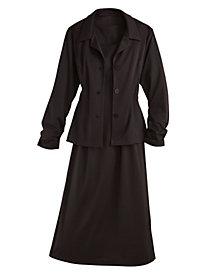 Ponté Knit Jacket Dress