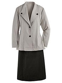 Knit Ponté Skirt Suit
