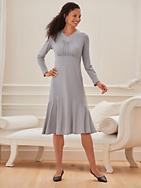 Embroidered Knit Dress