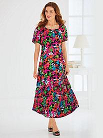 Crinkled Print Dress
