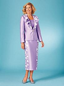 Printed Petal Skirt Suit
