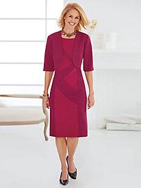 Zigzag Colorblock Jacket Dress