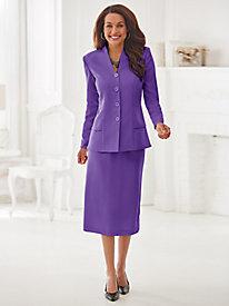 Double Peplum Skirt Suit By Koret®