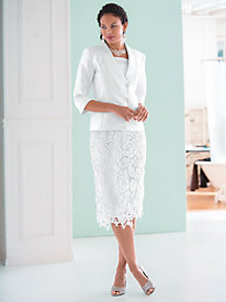 Lace Skirt Suit
