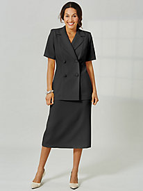 Koret® Double-Breasted Skirt Suit