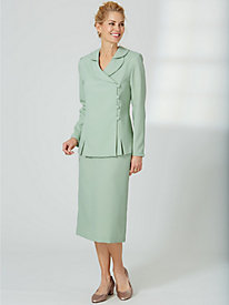 Shawl Collar Skirt Suit