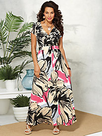 Printed Maxi Dress By Regalia®