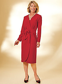 Faux Wrap Dress By Regalia®