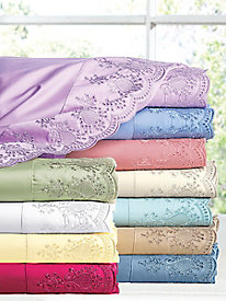 Private Essential 412 Thread Count Wrinkle Free Pillowcases (pair) - Lace Trim