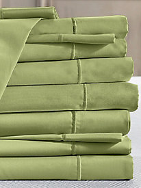 Private Essential 412 Thread Count Wrinkle Free Solid Flat Sheet