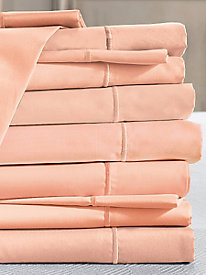 Private Essential 412 Thread Count Wrinkle Free Solid Fitted Sheet