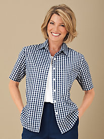 Vicki Wayne® Gingham-Checked Campshirt