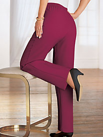 BendOver® Crepe Pants with Side Pockets