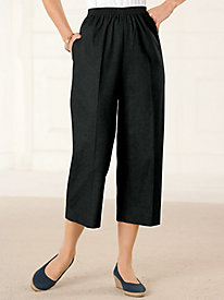 Alfred Dunner Denim Capri Pants